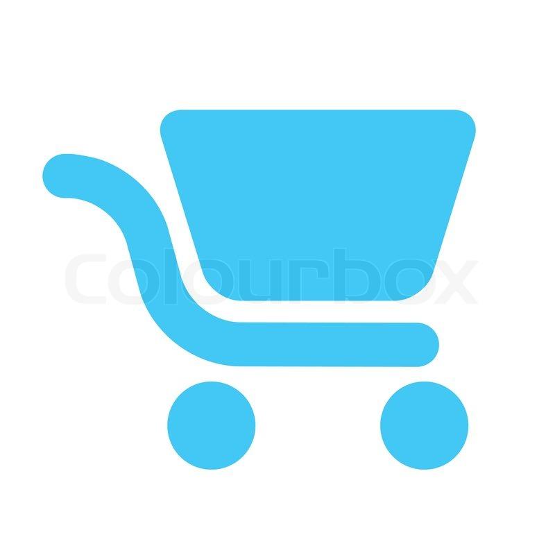 Icon - shopping cart - light blue | Stock Vector | Colourbox