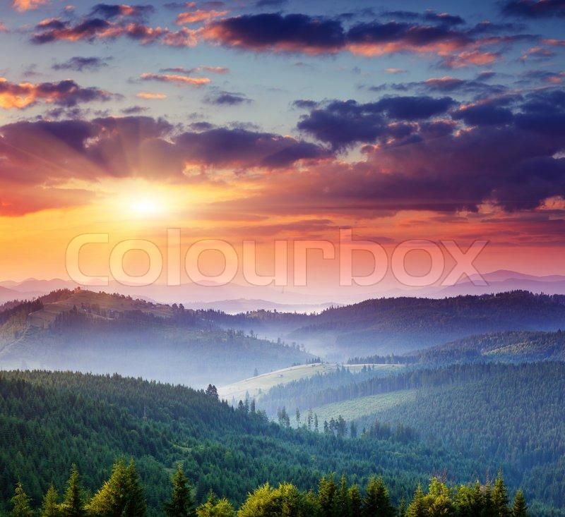 Mountains landscape, stock photo