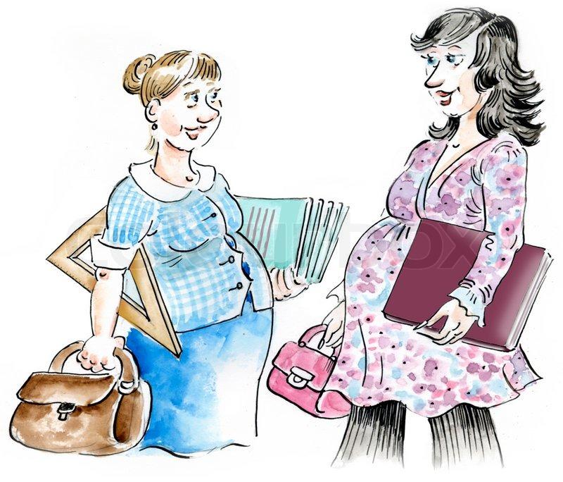 Schwangere frau treffen