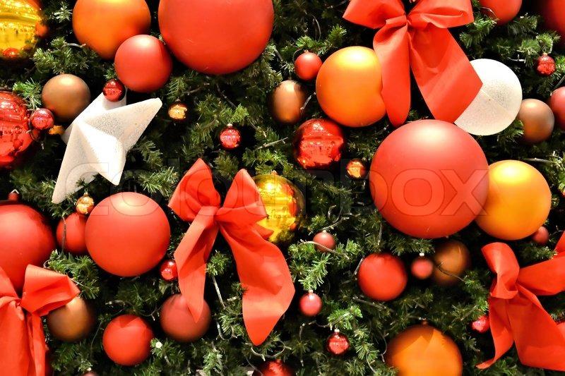 sch n dekorierter weihnachtsbaum stock foto colourbox. Black Bedroom Furniture Sets. Home Design Ideas