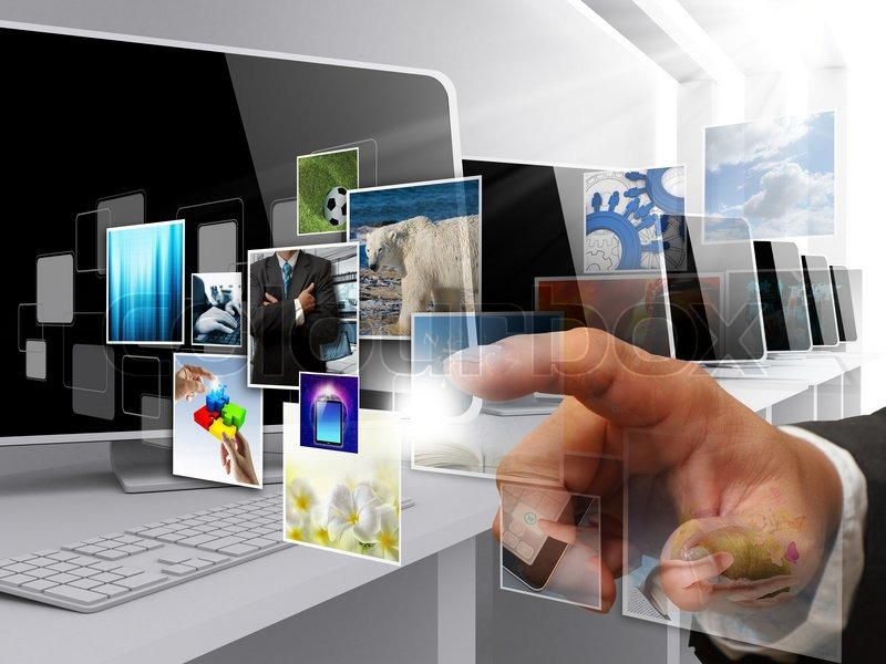 Internet streaming images as concept, stock photo
