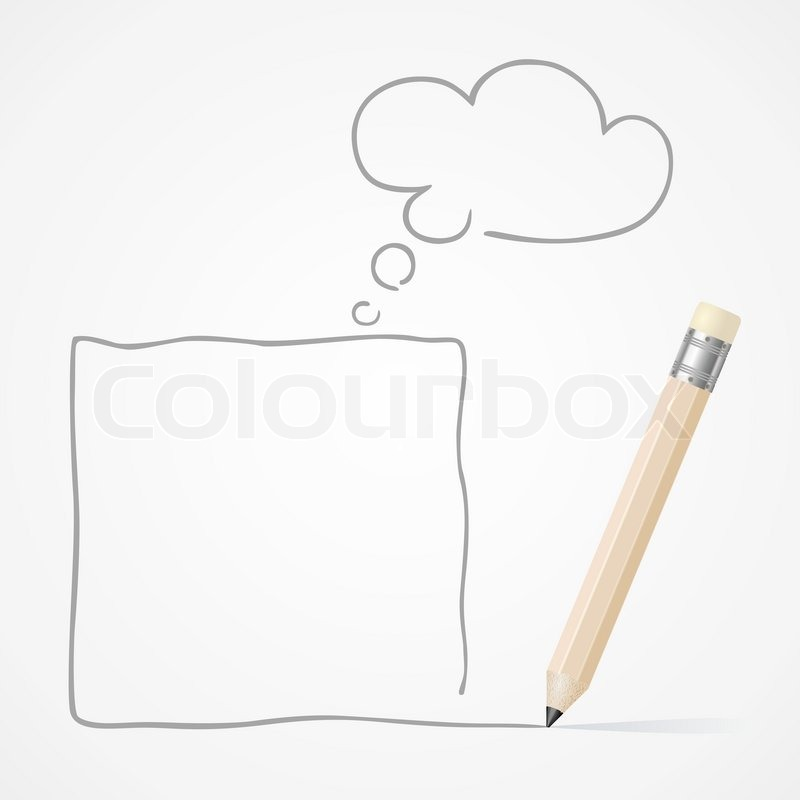 pencil drawing frame vector
