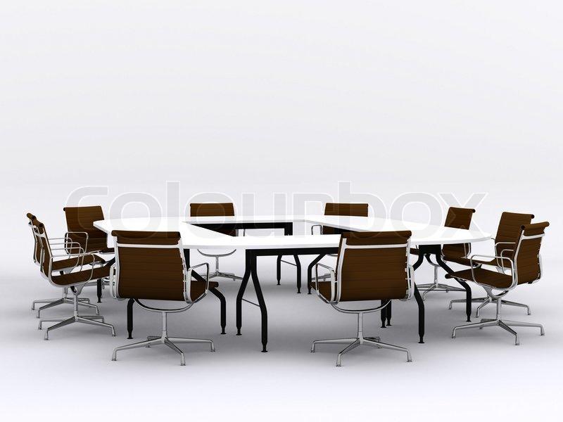 Konference bord og stole i mødelokale | Stock foto | Colourbox
