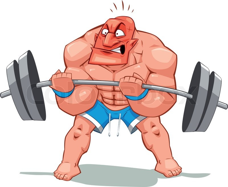 Muscle Man Funny Cartoon And Vector Stock Vector Colourbox