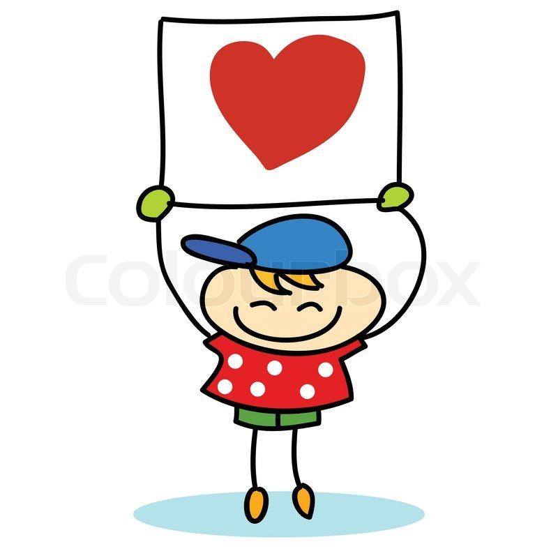Happy kids cartoon hand-drawn | Stock vector | Colourbox
