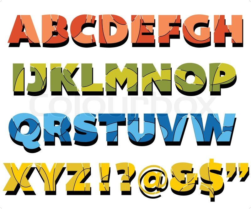 Abstract Design Fully Editable Capital Letters Alphabet