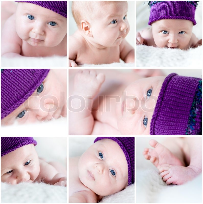 baby collage stock photo
