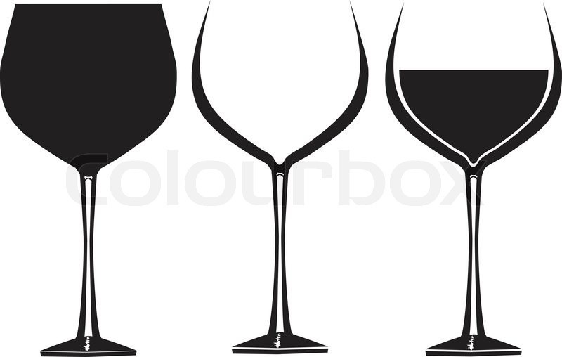 wine glasses in graphic vector for use in party or restaurant rh colourbox com vine vector wine vector free download