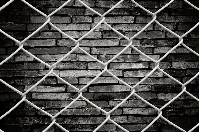 Porous On Grunge Fence And Wall Stock Photo Colourbox