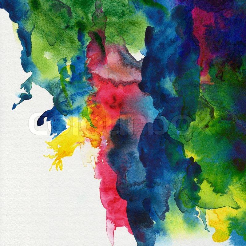 Abstract Watercolor Hummingbird Abstract Stripe Watercolors