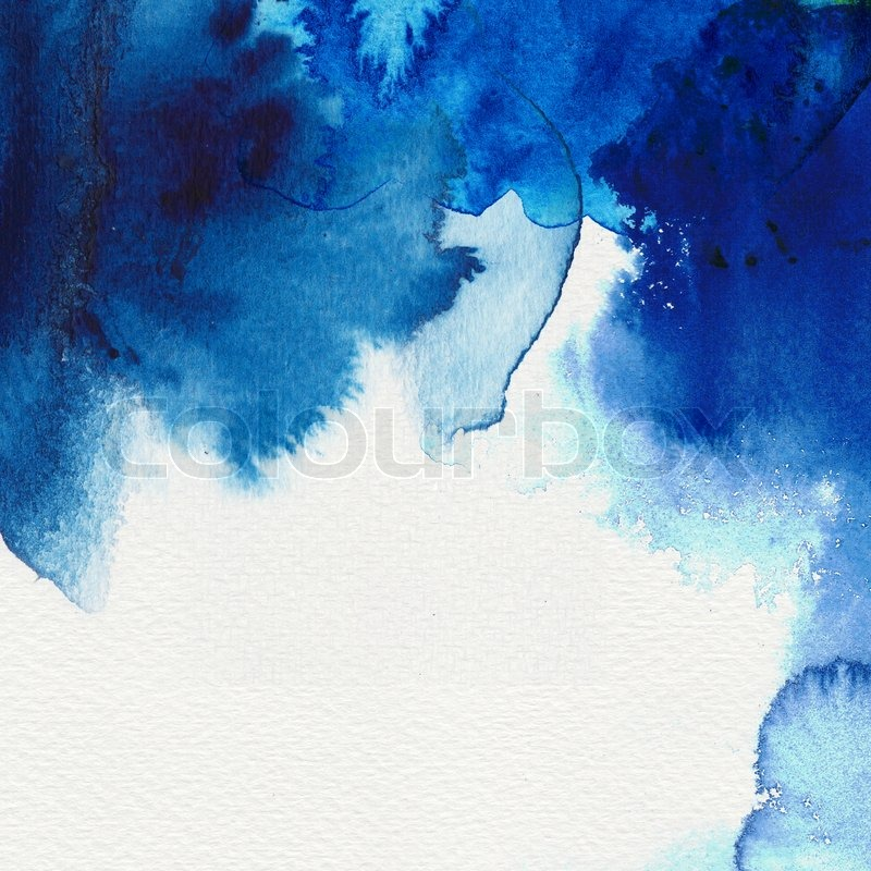 Abstract Blue Watercolor Flow Stock Photo Colourbox