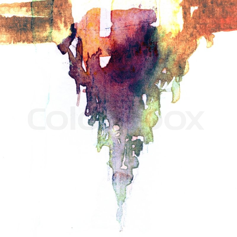 Abstract watercolors paint wet on wet paper style | Stock Photo ...