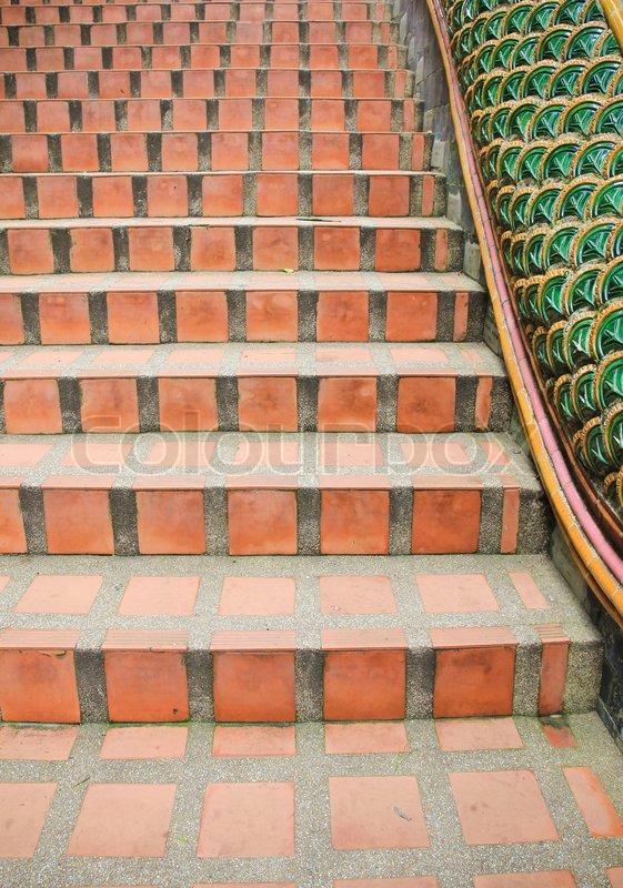 Gemauerte Treppen Außen red gemauerte treppe | stockfoto | colourbox
