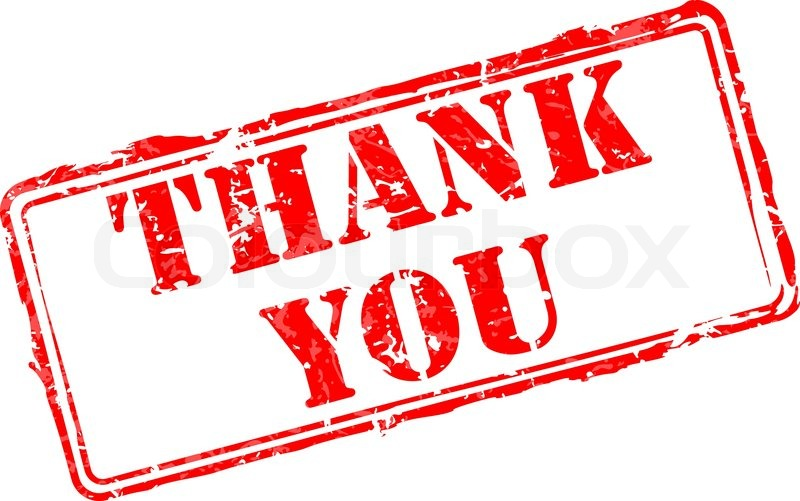 thank you rubber stamp stock vector colourbox