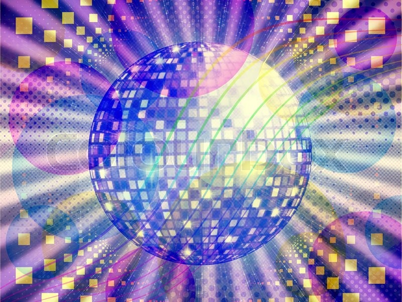 Funky music background with dico ball | Stock Photo ...