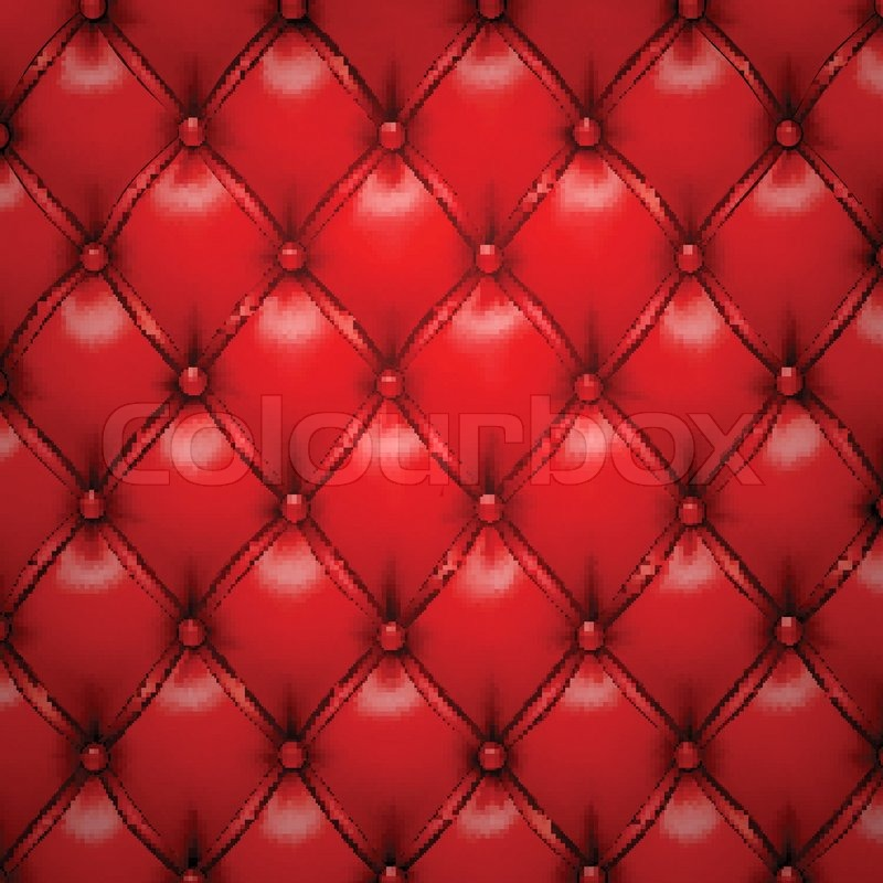 Vector Illustration Of Red Realistic Upholstery Leather