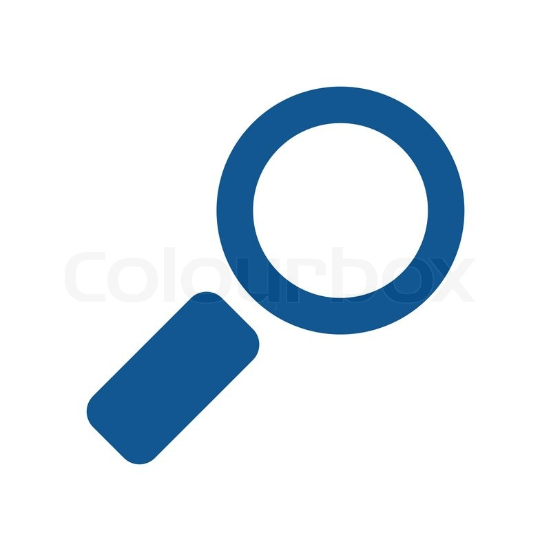 magnifying glass icon blue - photo #5