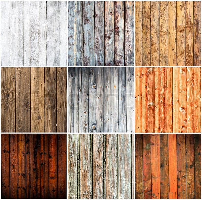Wood Textures Collage Stock Photo Colourbox