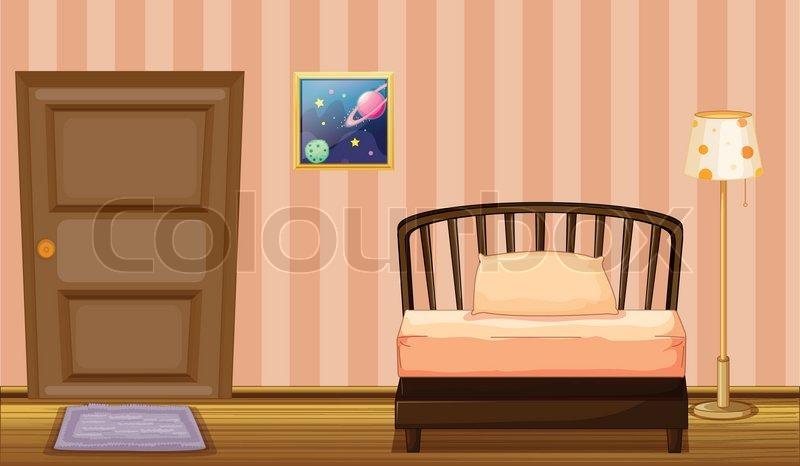 Ein bett und eine t r stock vektor colourbox for Bett polnisch