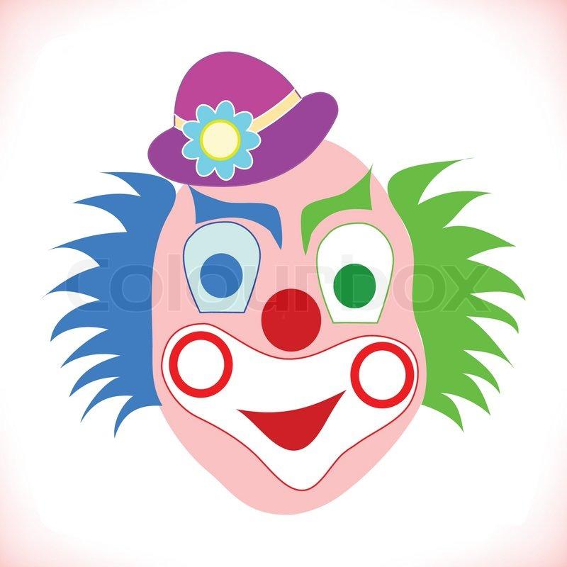 clown gesicht vektorgrafik colourbox. Black Bedroom Furniture Sets. Home Design Ideas