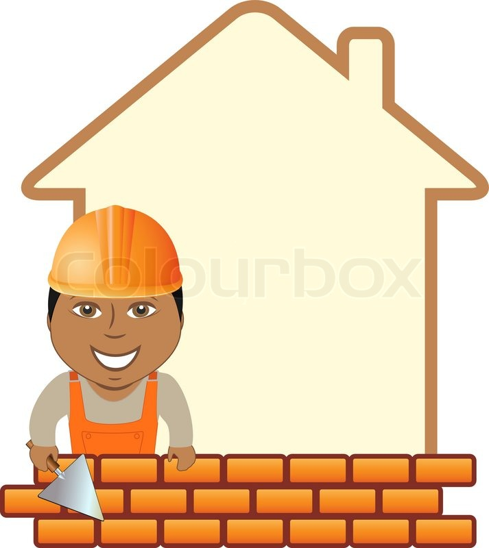 cartoon construction sign with space for text and smiling afro rh colourbox com under construction cartoon images construction cartoon images free download