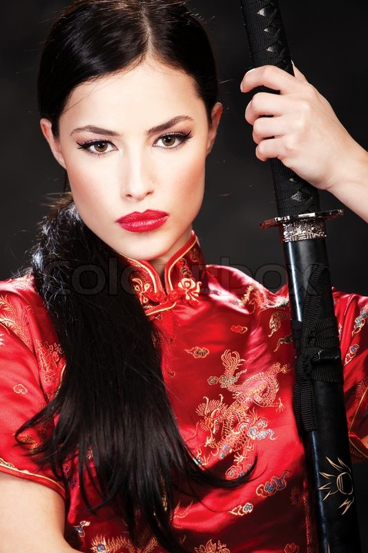 Woman With Sword Stock Photo Colourbox