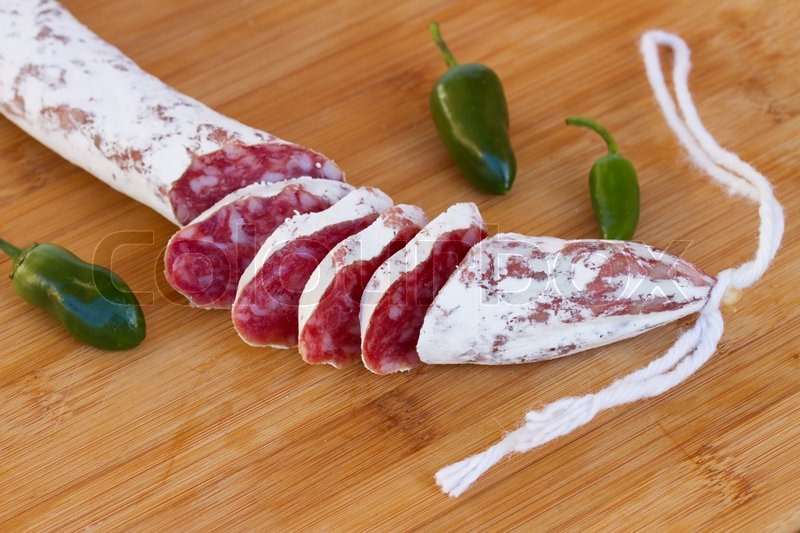 Spanish fuet sausage stock photo colourbox - Fuet casa tarradellas ...