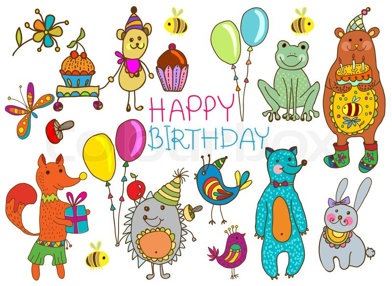 Happy birthday cartoon card stock photo colourbox m4hsunfo
