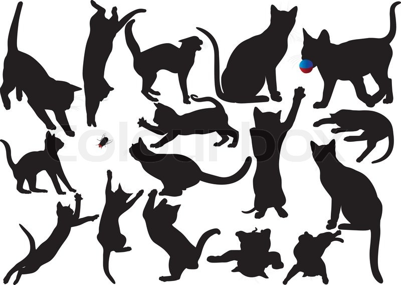 Cats And Dogs Playing Clip Art