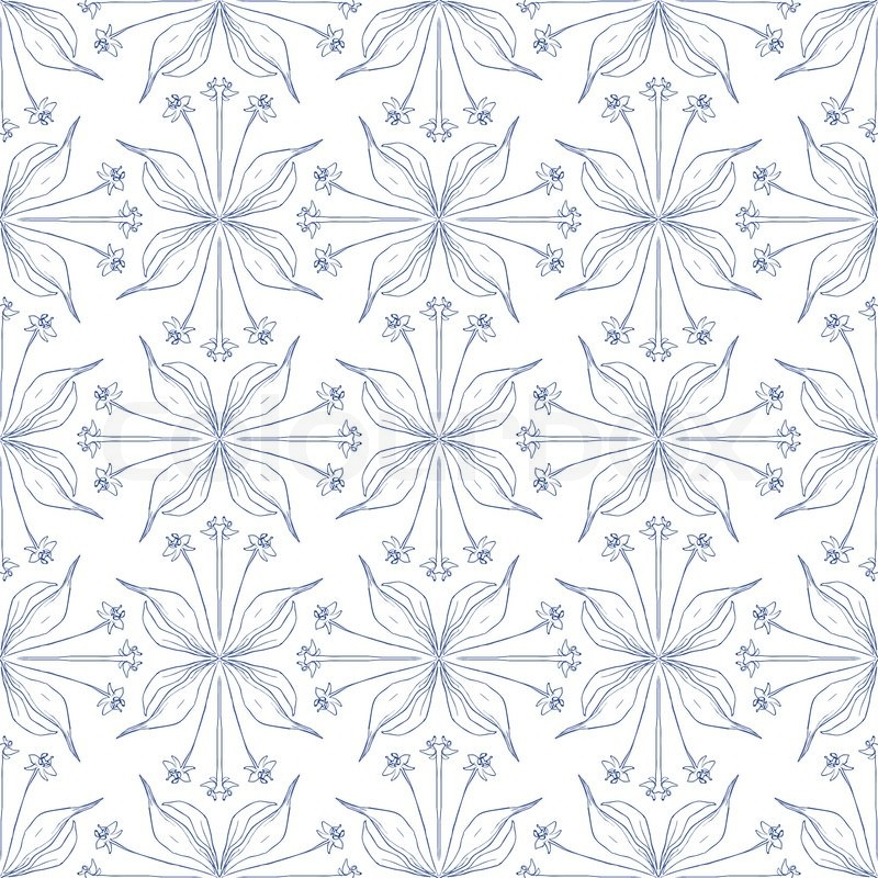 elegant stylish floral background with barely visible lines in blue
