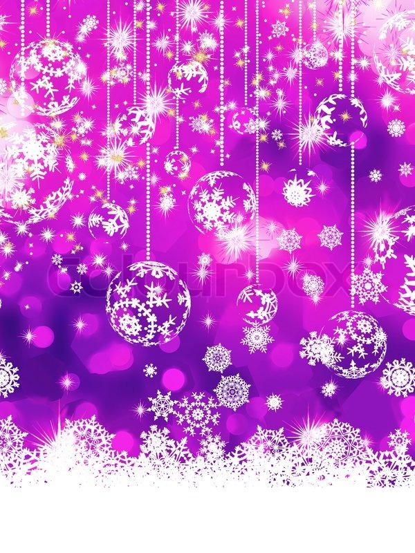 Purple Christmas background EPS 8 | Stock Vector | Colourbox