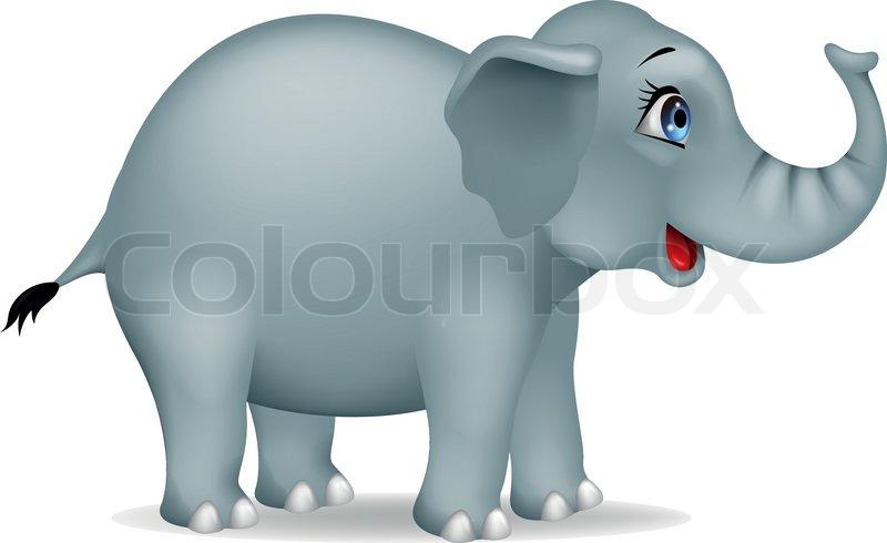 cartoon elephant stock vector colourbox