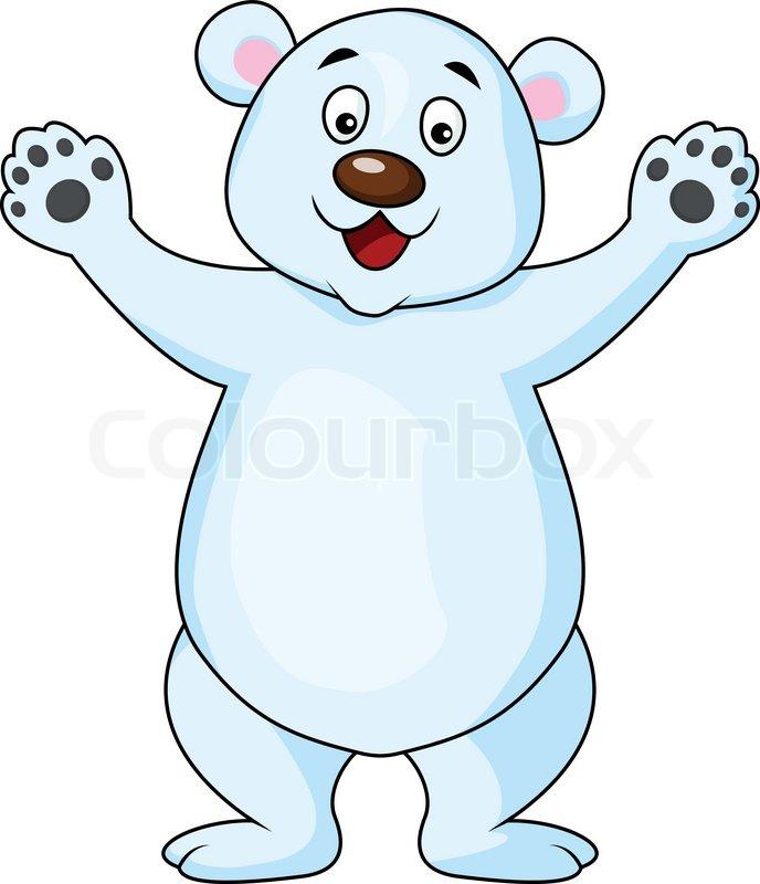 funny polar bear cartoon stock vector colourbox