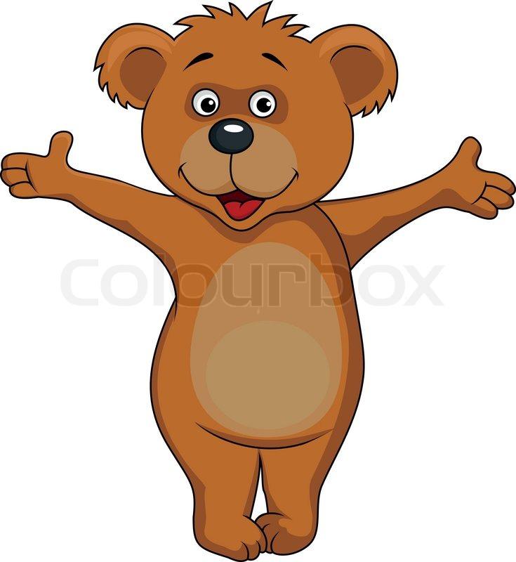 baby brown bear cartoon waving hands stock vector polar bear mascot clipart grizzly bear mascot clipart