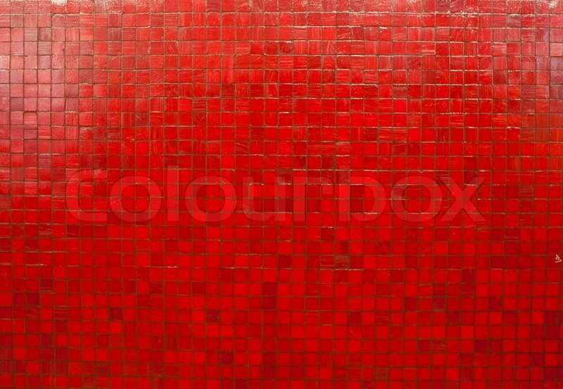 Red Mosaic Tiles Wallpaper Stock Photo Colourbox