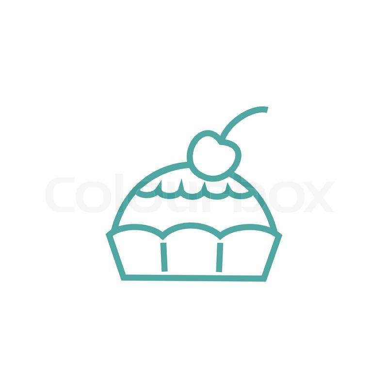 Kuchen Icon Vektorgrafik Colourbox
