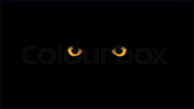 Gelbe Augen Blinzeln Stock Video Colourbox
