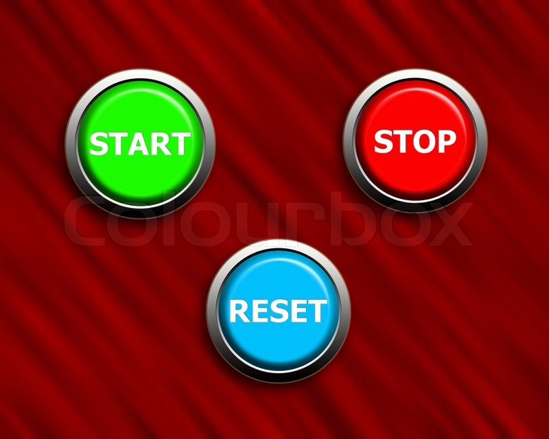 start stop and reset buttons on black red texture stock photo colourbox. Black Bedroom Furniture Sets. Home Design Ideas
