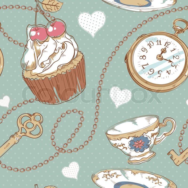 vintage tea cup wallpaper - photo #17