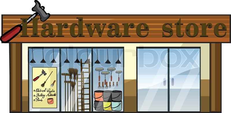 a hardware store stock vector colourbox Storefront Outlines Cartoon Storefront
