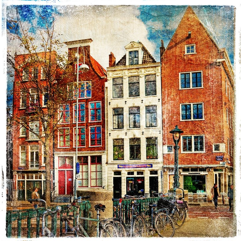 Amsterdam, architecture, vintage ... | Stock Photo | Colourbox