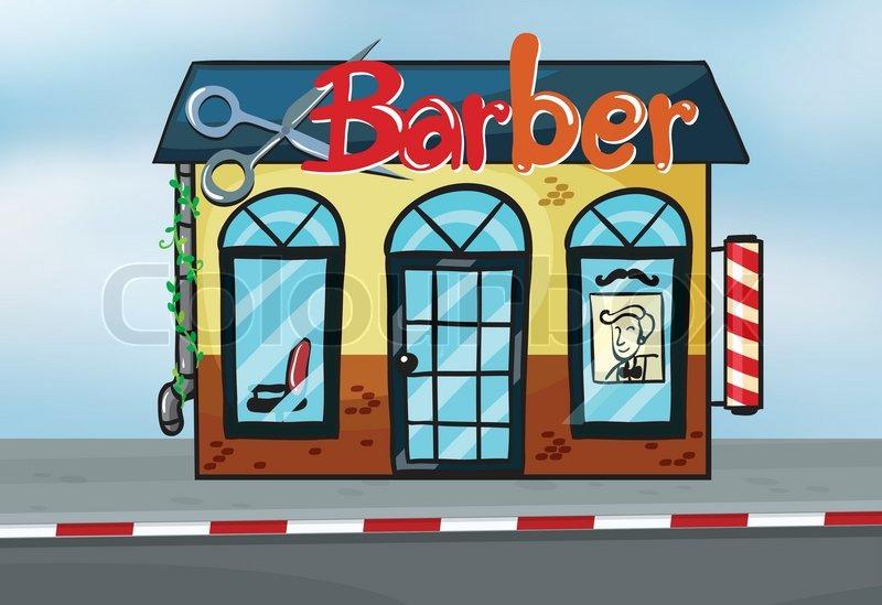 barber shop stock vector colourbox rh colourbox com barber shop clipart free barber shop clipart