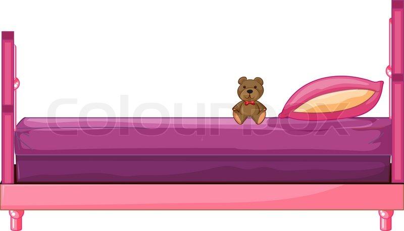 ein rosa bett stock vektor colourbox. Black Bedroom Furniture Sets. Home Design Ideas