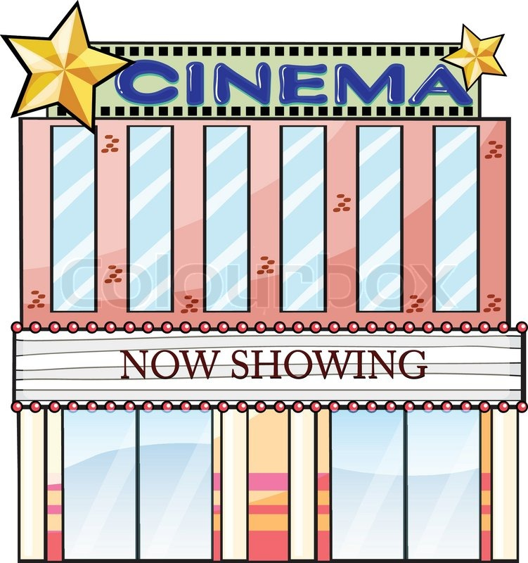 A cinema theater building | Stock Vector | Colourbox  Cinema Building Cartoon