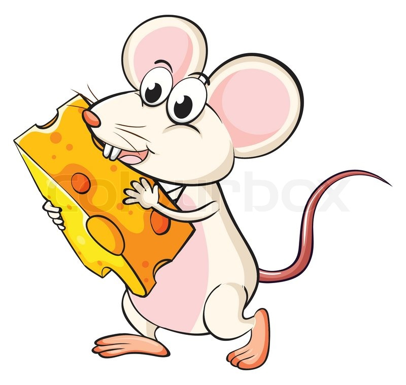 clipart mouse eating cheese - photo #5