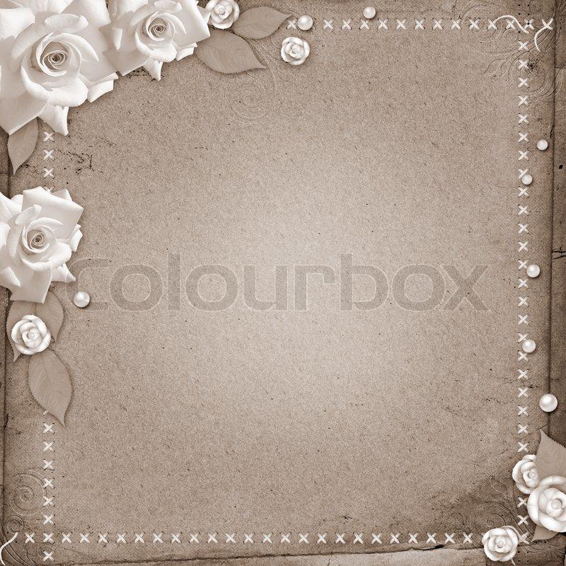 vintage sch ne hochzeit hintergrund mit rosen stockfoto colourbox. Black Bedroom Furniture Sets. Home Design Ideas