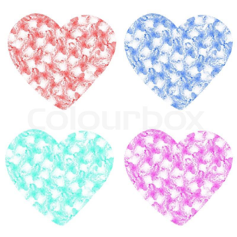 Fingerabdruck Herz Symbol Auf Weissem Stockfoto Colourbox