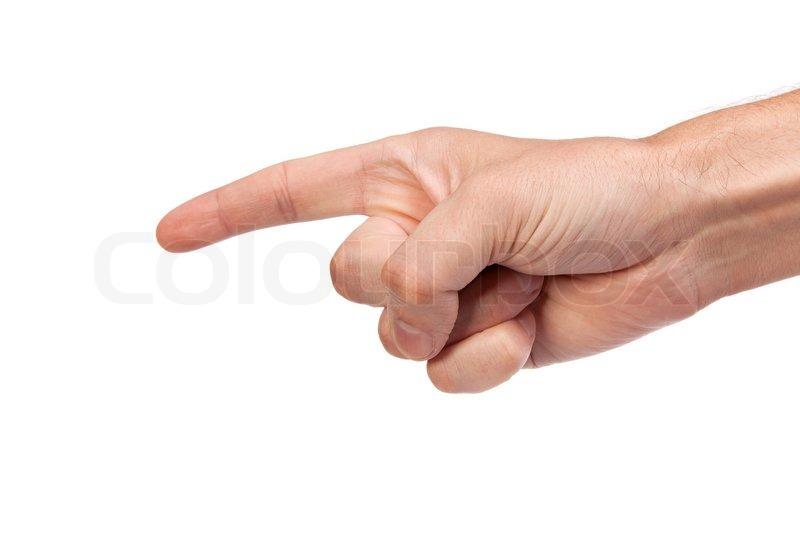 hvid pil giver finger