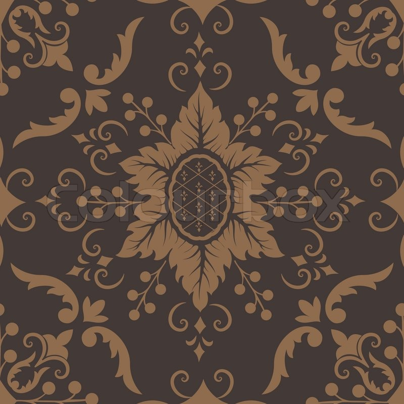Vector Damask Seamless Pattern Element Royal Wallpaper