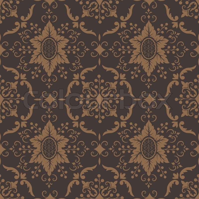 Vector Damask Seamless Pattern Background Royal Wallpaper